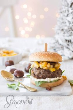 Christmas burger with chestnuts | insimoneskitchen.com