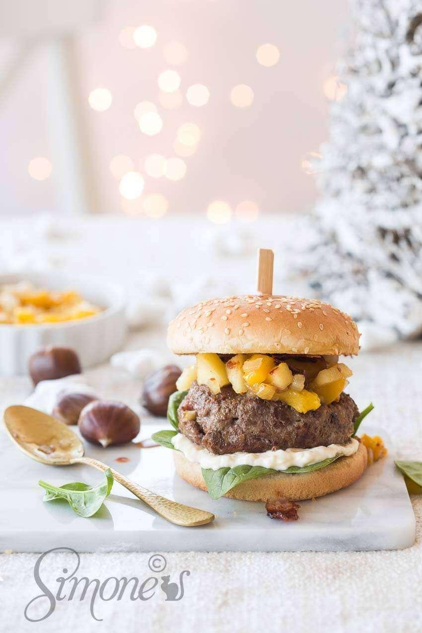 Christmas burger with chestnuts | insimoneskitchen.com
