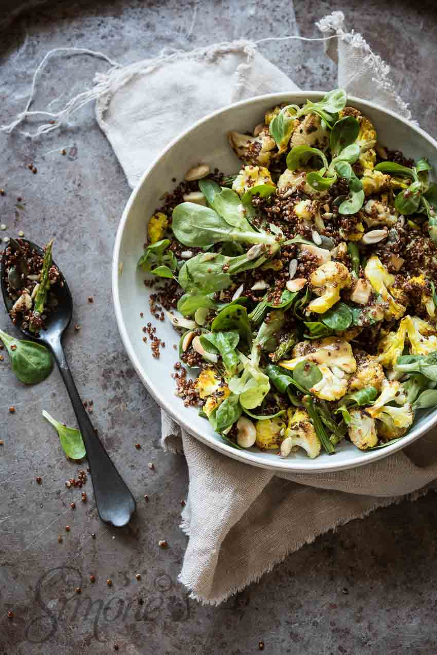 Roasted cauliflower with quinoa | insimoneskitchen.com