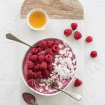 Raspberry coconut mousse | insimoneskitchen.com