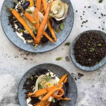 Roasted carrots with lentils | insimoneskitchen.com