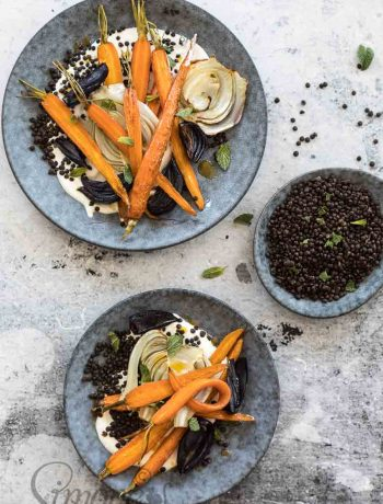 Roasted carrots with lentils | insimoneskitchen.com