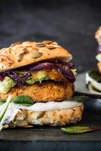 Chickpea carrot burger | insimoneskitchen.com