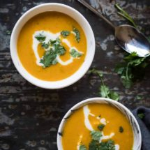 Asian sweet potato soup | insimoneskitchen.com