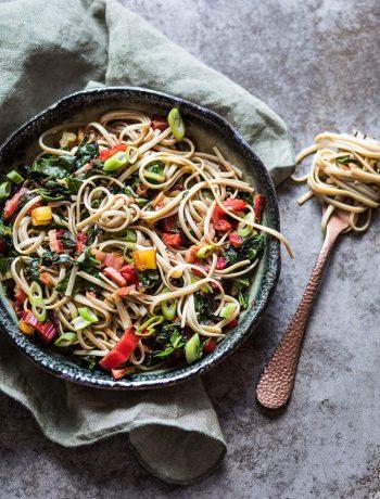Noodles with swiss chard | insimoneskitchen.com