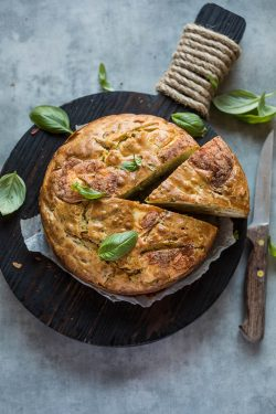 Onion cake with basil and brie | insimoneskitchen.com
