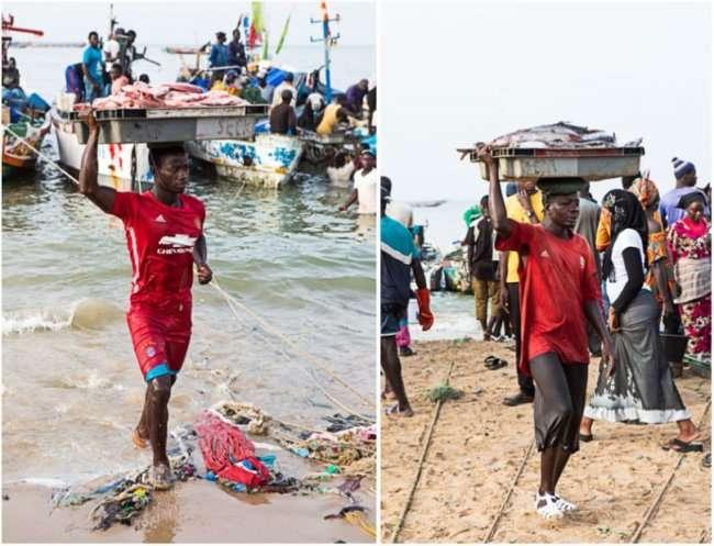 Fishmarket in Senegal Mbour | insimoneskitchen.com