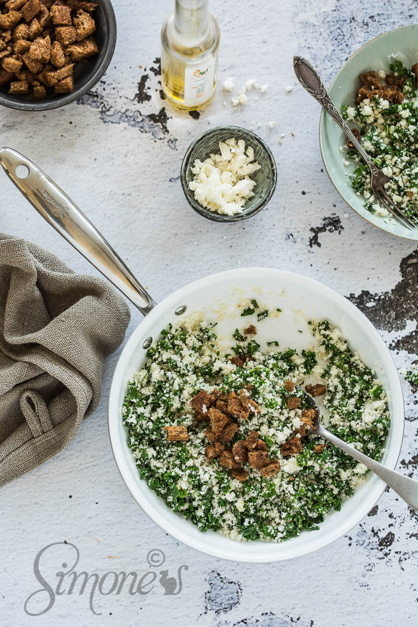 Cauliflower fried rice with kale | insimoneskitchen.com