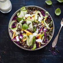 Asian salad with black rice | insimoneskitchen.com