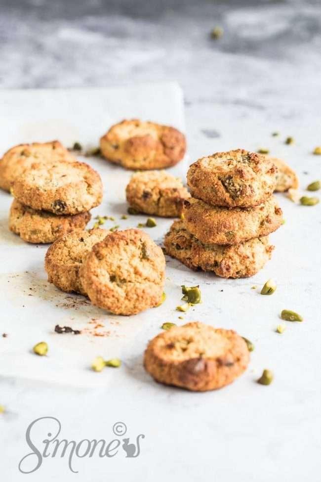 Gluten free pistachio cookies | insimoneskitchen.com