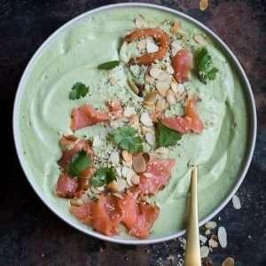 Fresh avocado soup with smoked salmon | insimoneskitchen.com