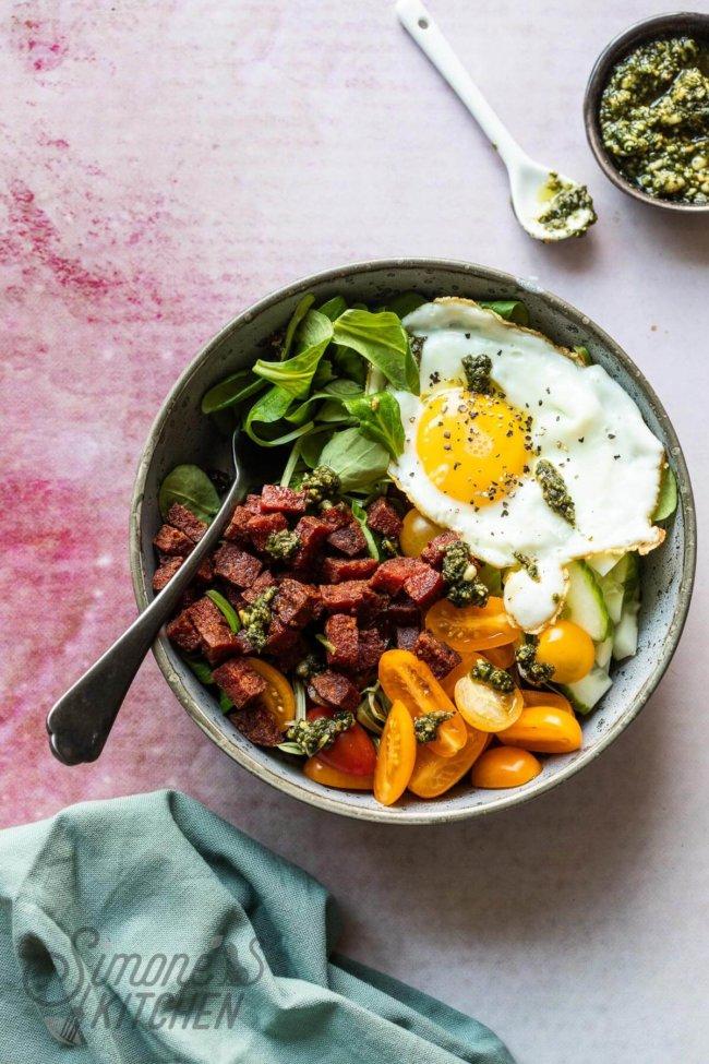 Easy chorizo bowl