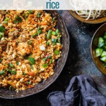nasi goreng cauliflower rice
