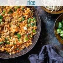 nasi goreng cauliflower rice