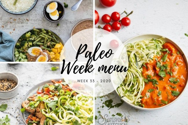 Paleo week menu