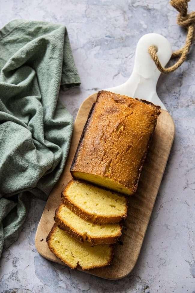 basic pound cake topshot