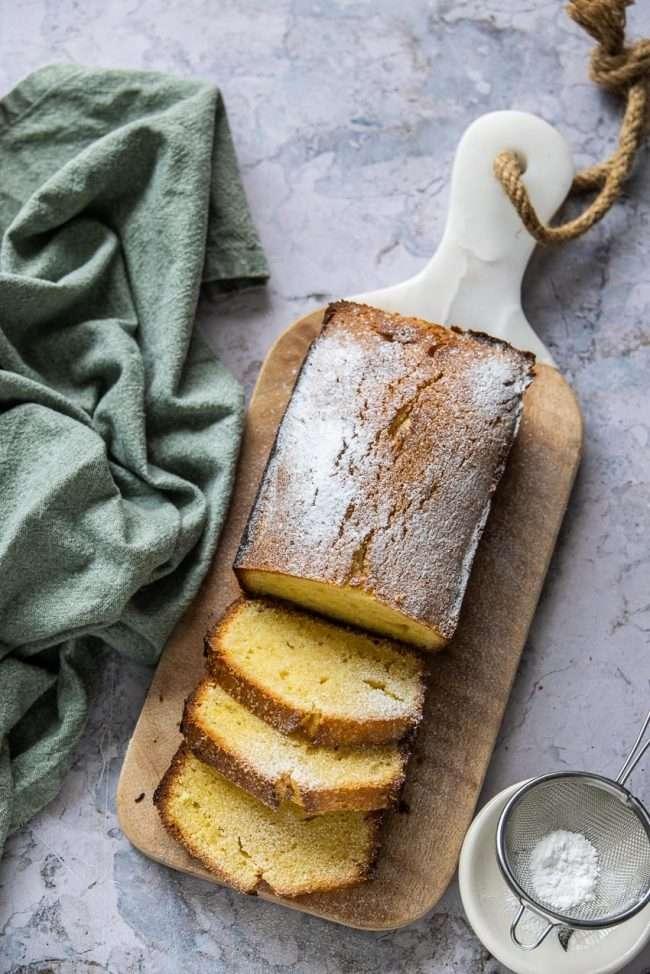 slices pound cake
